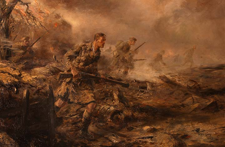 he 4th Battalion The Black Watch in the Attack, 1915 by Joseph Gray.