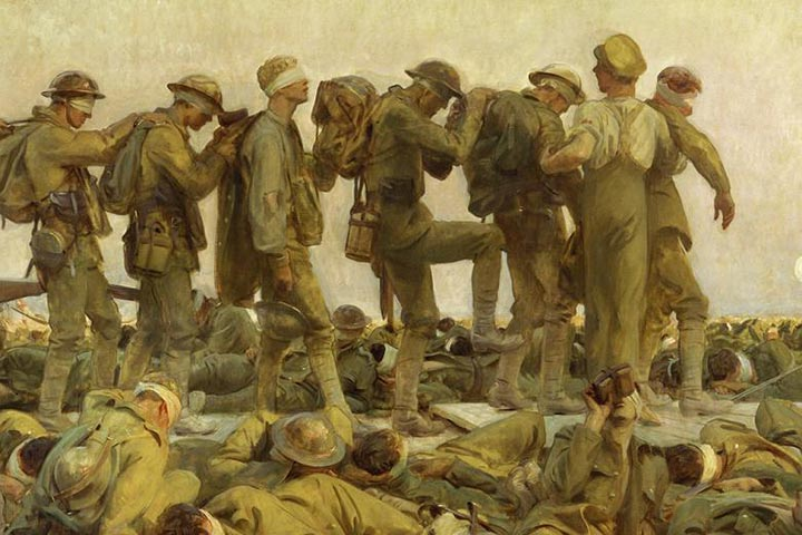 Gassed by John S Sargent, 1919.