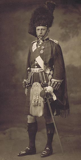Lt Col Harry Walker, commanding officer of the 4th Black Watch, mortally wounded at the Battle of Loos