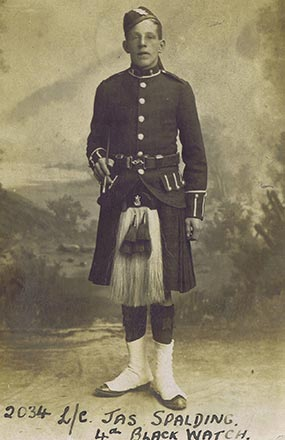 Lance Corporal James Spalding, 4th Black Watch