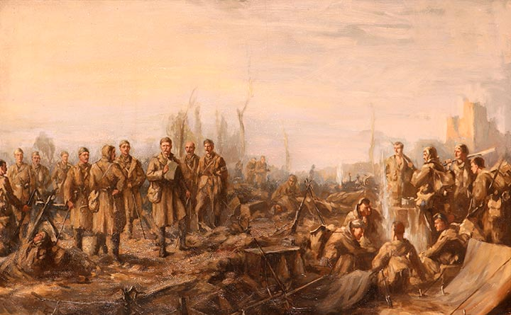 After Neuve Chapelle (10 March 1915) by Joseph Gray, 1915.