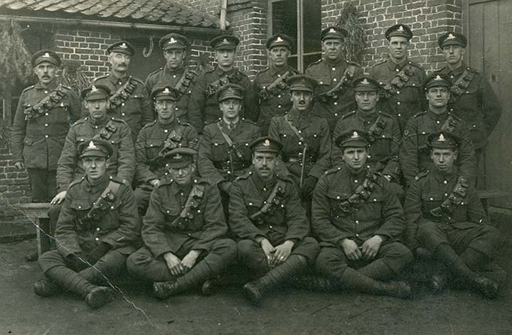 A group of Dundee postmen who signed up to join the war effort.